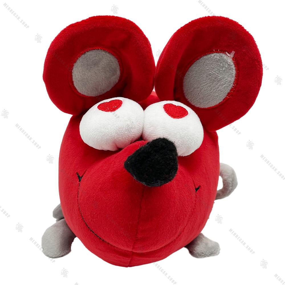 عروسک پولیشی موش چشم قلبی سایز کوچک