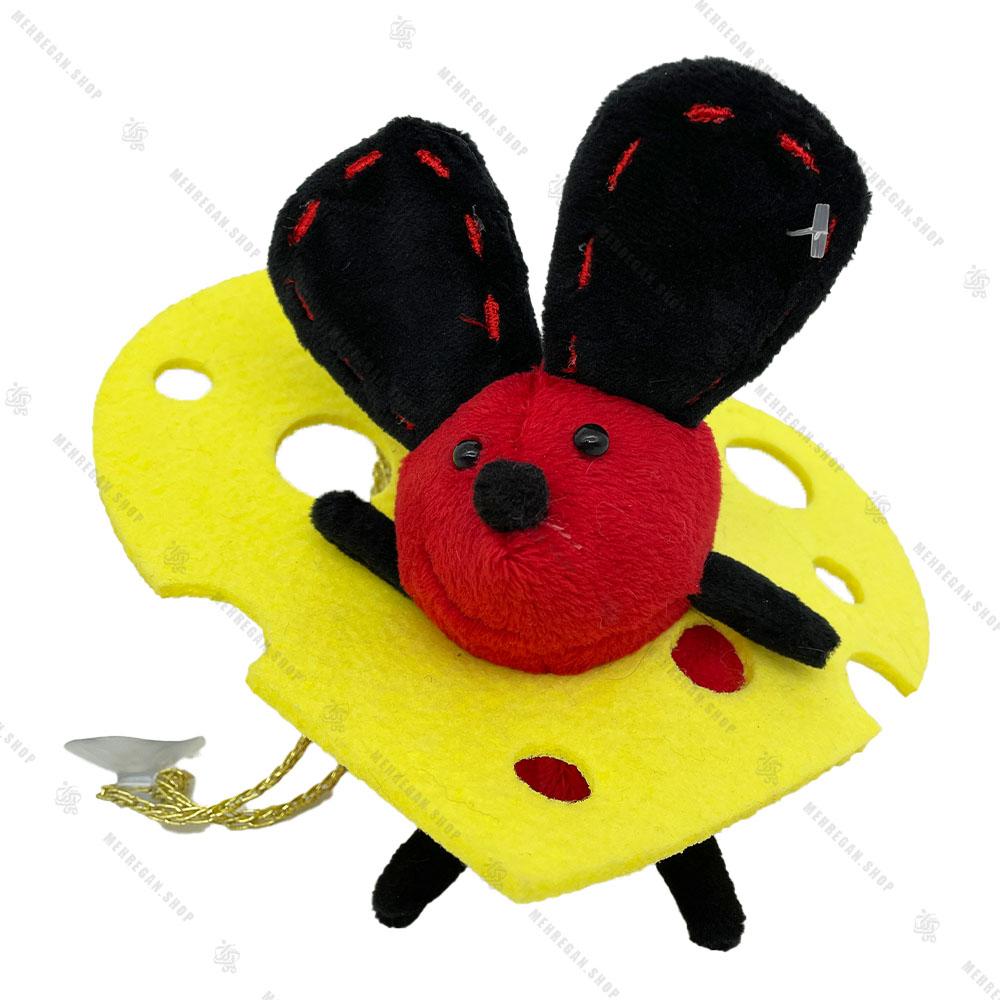 آویز عروسک پولیشی موش قرمز و پنیر