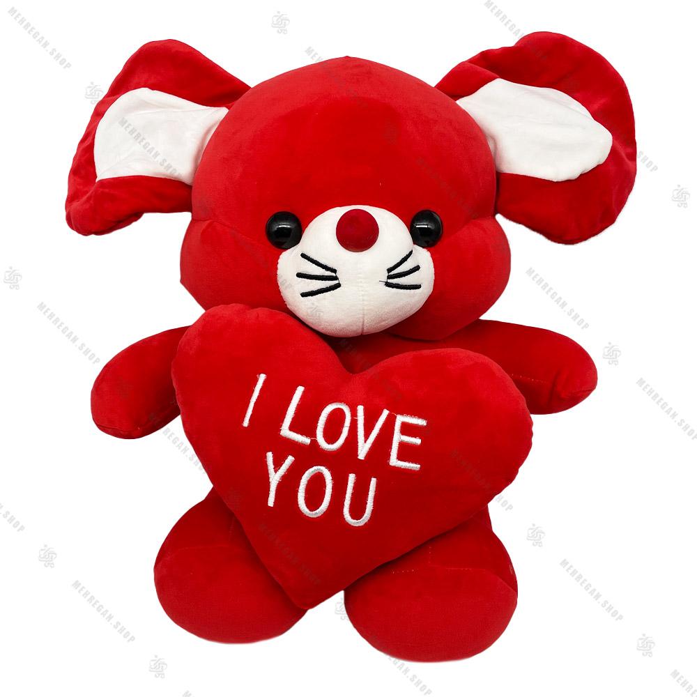 عروسک موش قرمز پولیشی با قلب