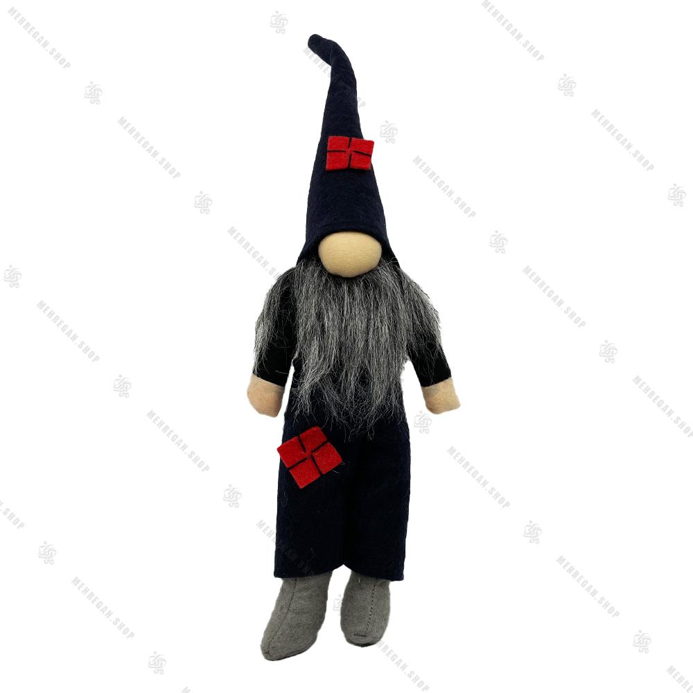 عروسک مرد ریش بلند با کلاه شیپوری مشکی