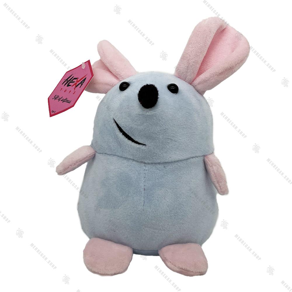 عروسک موش ایستاده خاکستری 17 سانتی متری