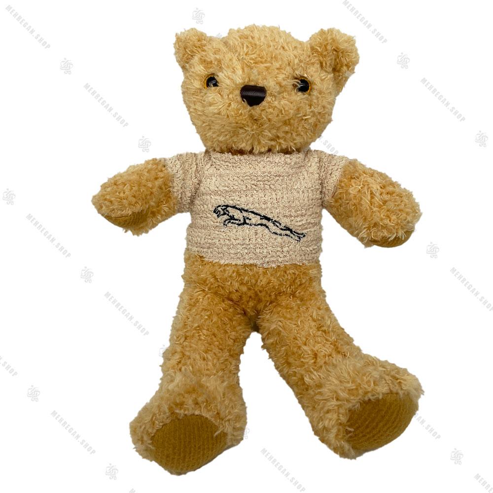 عروسک پولیشی خرس پلیور دار 30 سانتی