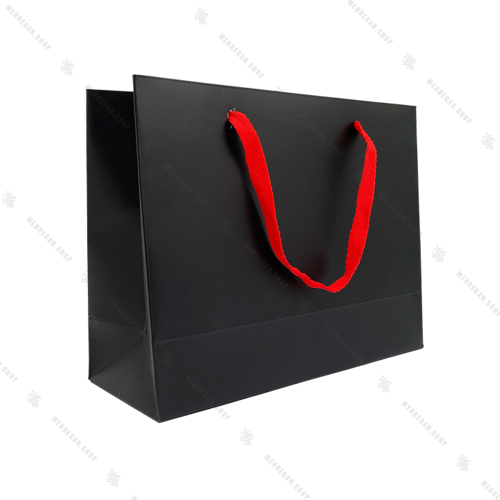بگ کادوئی مشکی با بند قرمز