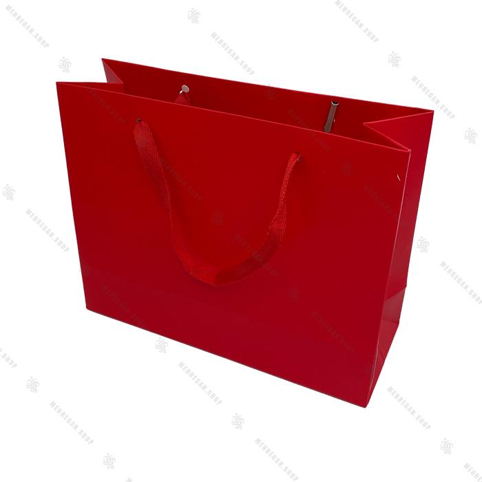 ساک هدیه قرمز مدل بند قرمز