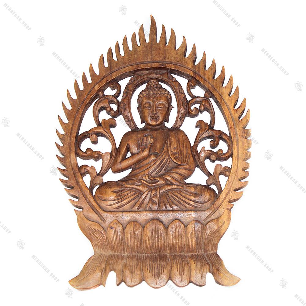 دیوار کوب چوبی طرح بودا Zen