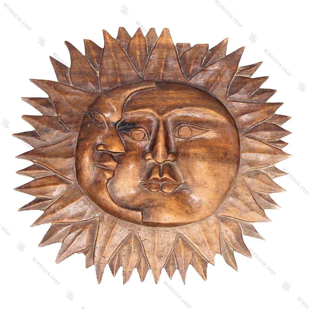 دیوار کوب چوبی طرح خورشید (کپی)