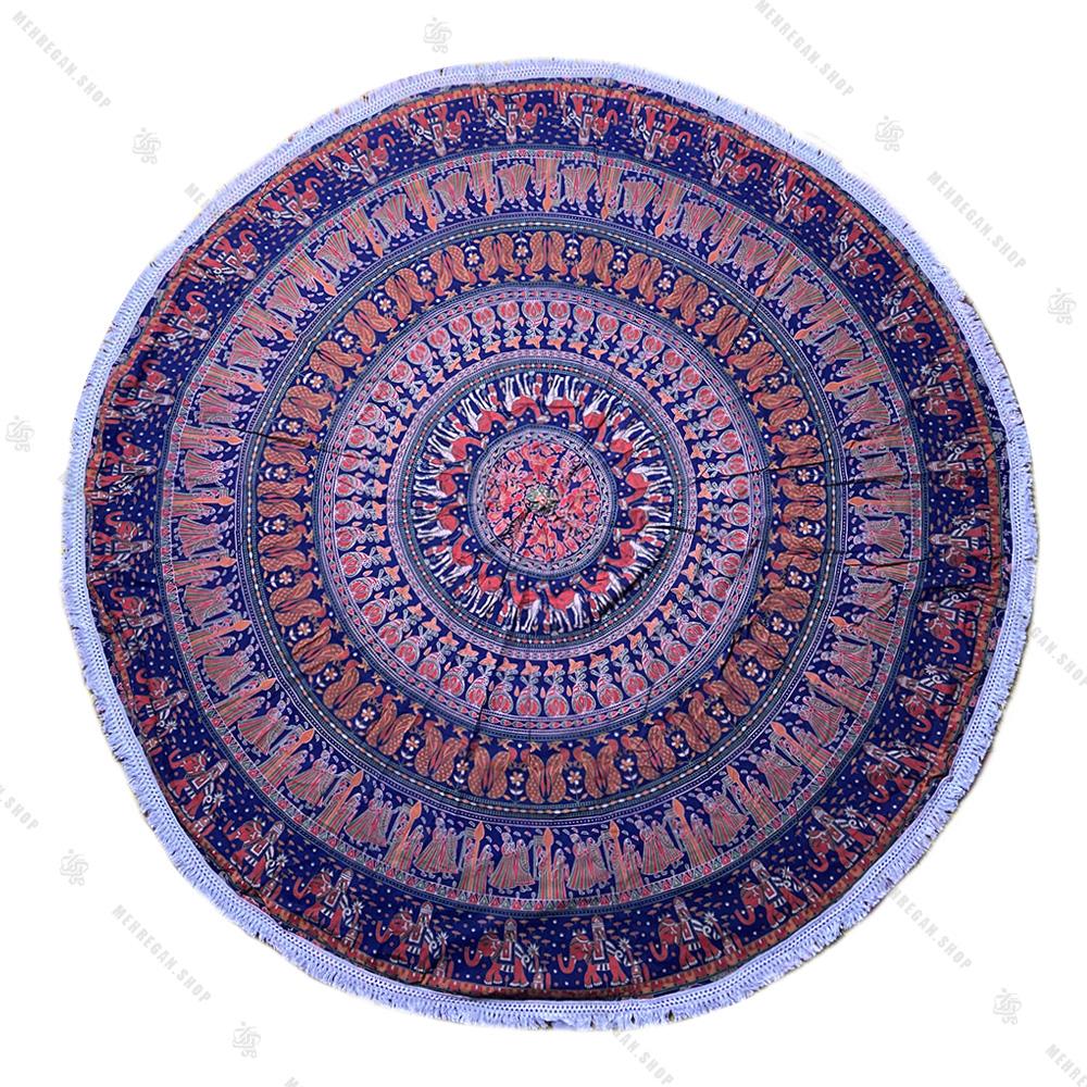 رومیزی دایره ای ماندلا طرح ادمک