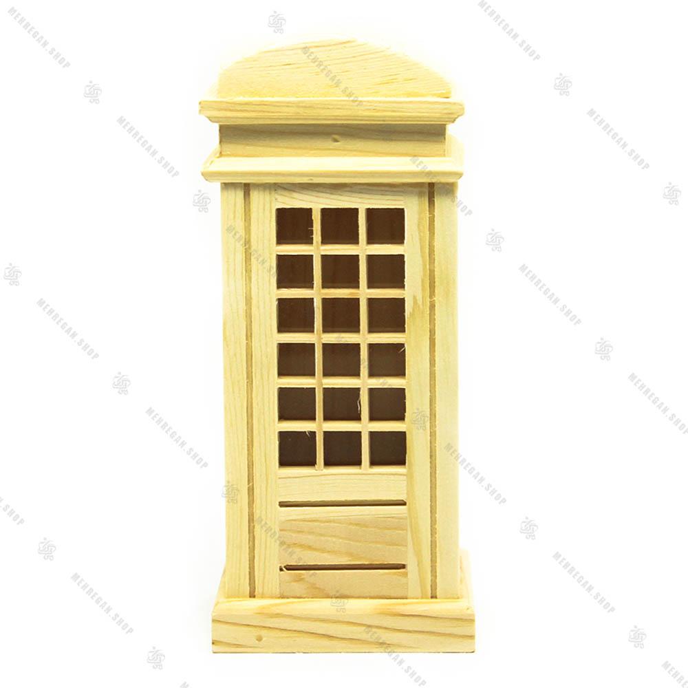قلک چوبی طرح کیوسک تلفن انگلیسی