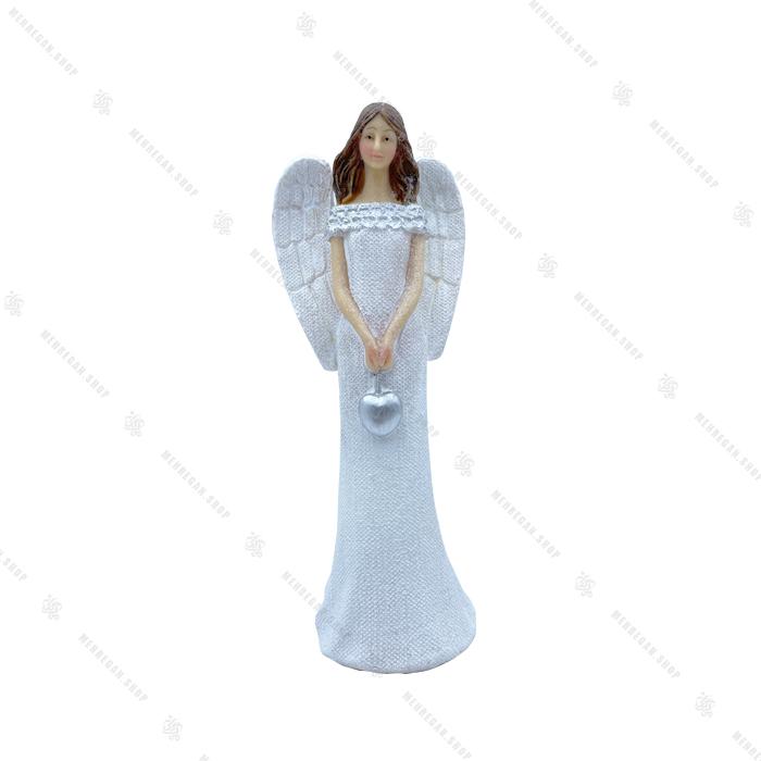 مجسمه دکوری فرشته با قلب اکلیلی 18 سانتی