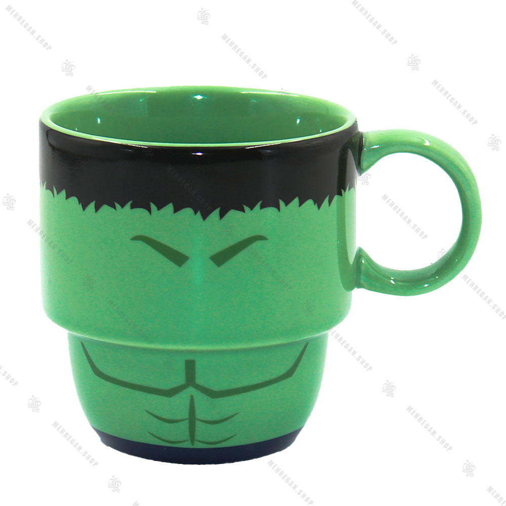 ماگ سرامیکی دسته دار مدل هالک Hulk
