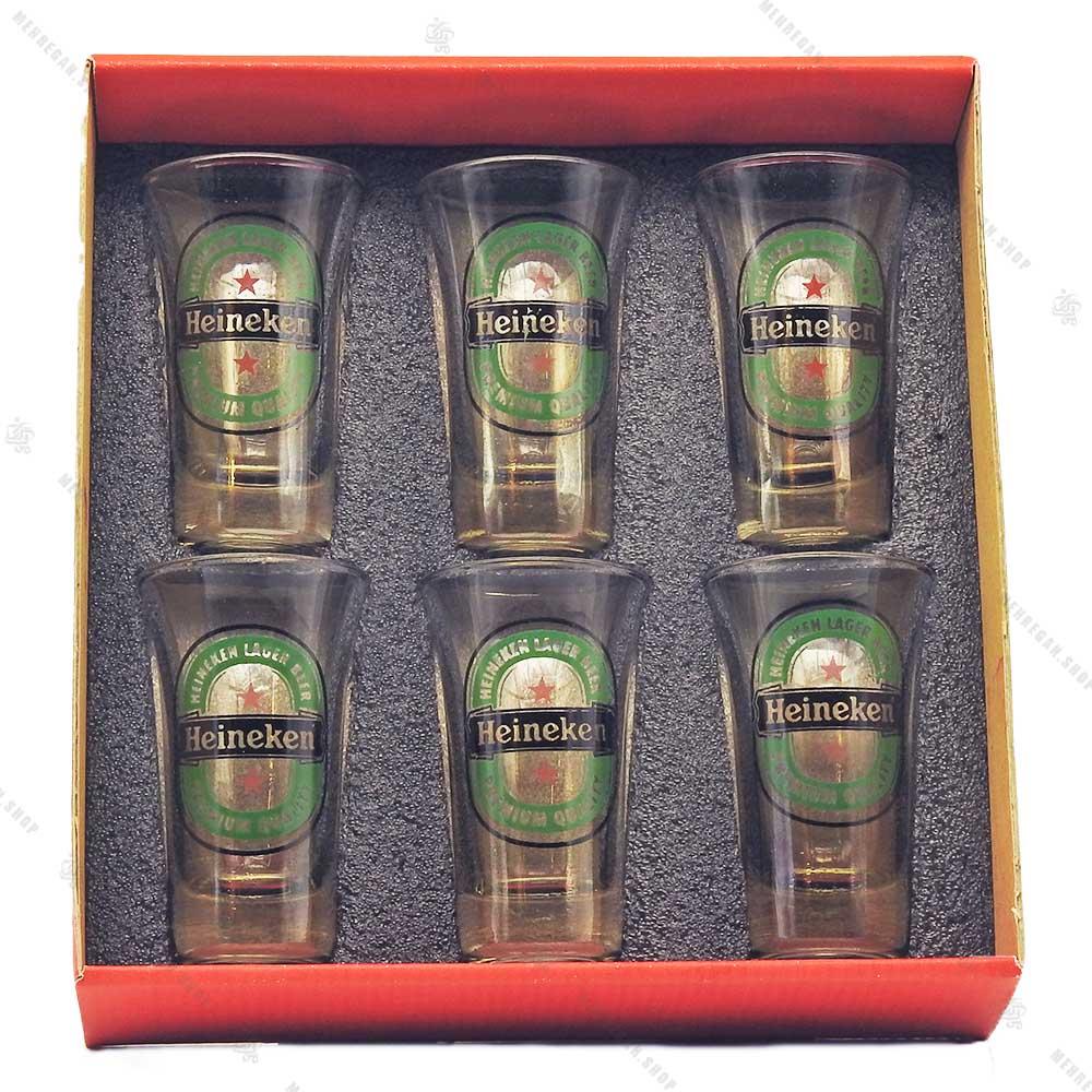 ست نوشیدنی شفاف 6 عددی مدل Heineken