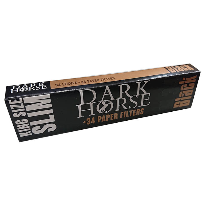 پیپر فیله دار بلند دارک هورس DARK HORSE Kind size Slim Black