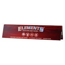 کاغذ سیگار دست پیچ بسیار نازک Elements قرمز