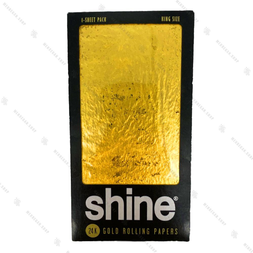 ورق سیگار پیچ طلا 24k شاین Shine