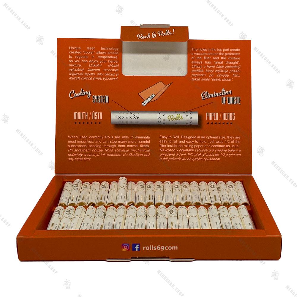 بسته 80 عددی فیلتر سیگار آماده رولز Rolls