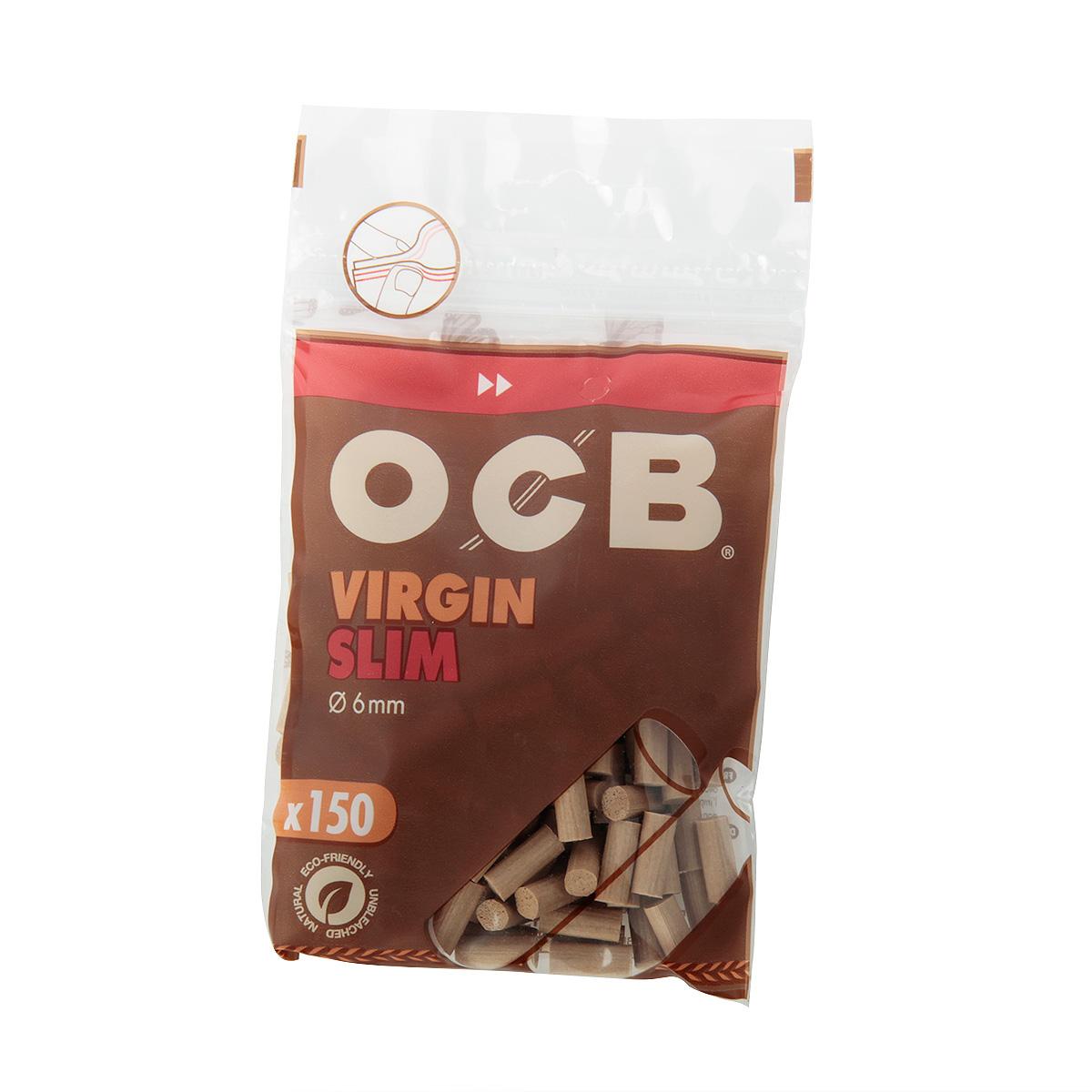 فیلتر سیگار دست پیچ اسلیم 150 عددی OCB Virgin Slim