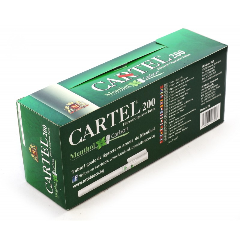 پوکه سیگار 200 عددی کارتل Cartel با طعم