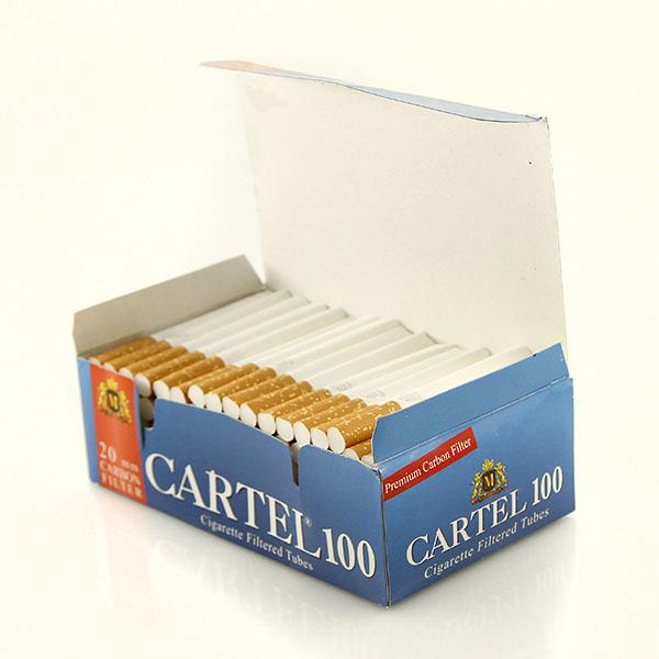 پوکه سیگار فیلتر دار کارتل 100 عددی
