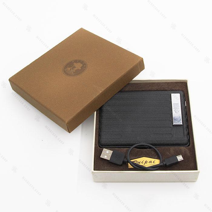جعبه سیگار و فندک المنتی مشکی کد 07431