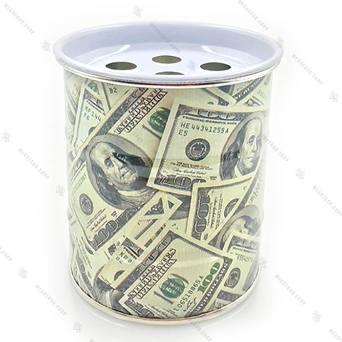 زیرسیگاری بشکه ای طرح دلار