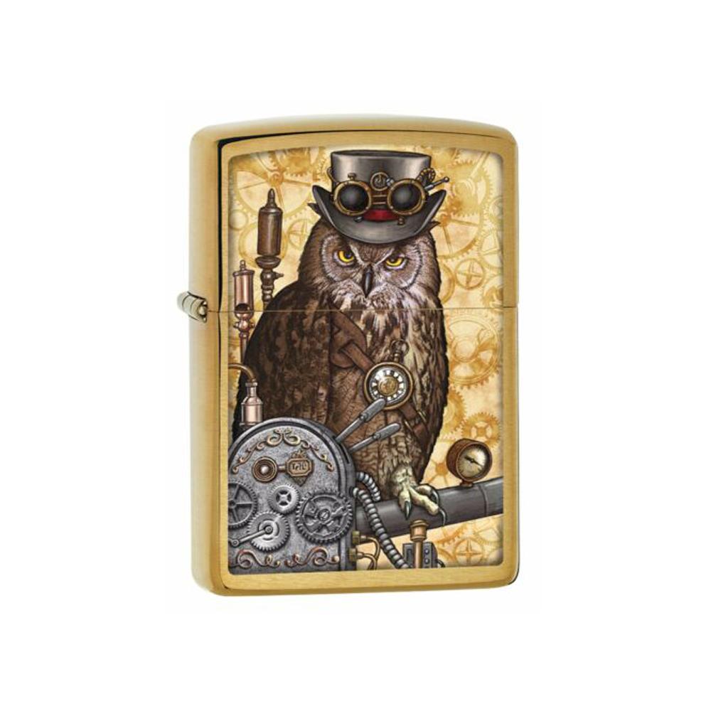 فندک سیگار زیپو Zippo Steampunk Owl