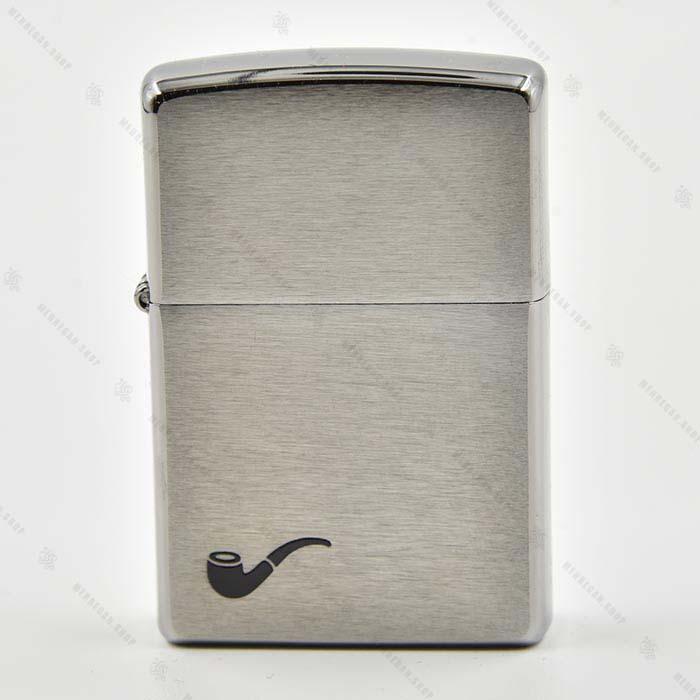 فندک نقره ای طرح پیپ – pl br fin pipe Lighter