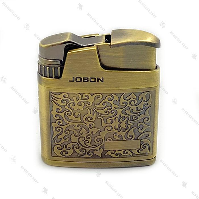 فندک جبون کروم با روکش گلد Jobon