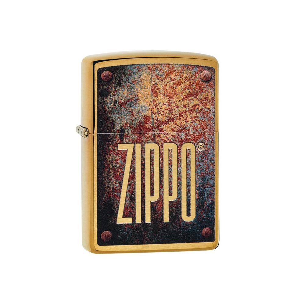 فندک برنجی اورجینال زیپو طرح Zippo Rusty Plate Design