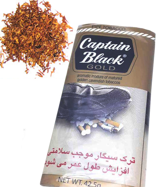 توتون پیپ کاپیتان بلک گلد Captain Black Gold با لیبل